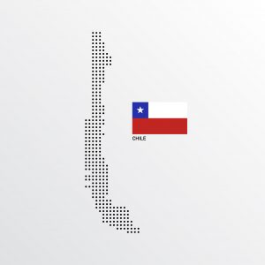 Chile Map design with flag