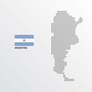 Mapa y bandera Argentina